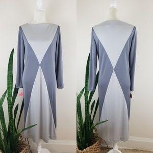 VTG 70's Caron Chicago Colorblock Dress